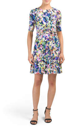 Petite Hot House Fit N Flare Dress
