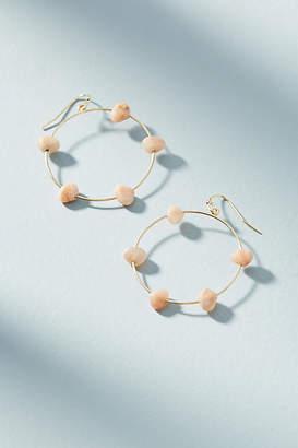 Anthropologie Maria Stone Hooped Drop Earrings