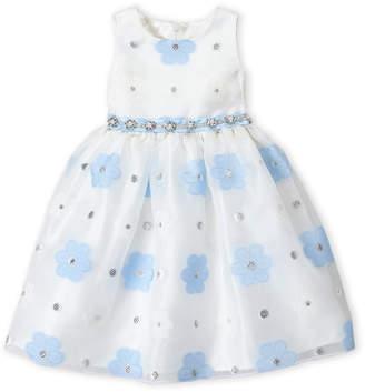 American Princess (Toddler Girls) Floral Embellished Tank Dress