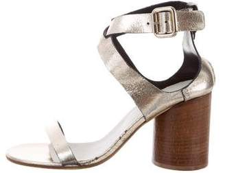 Maison Margiela Metallic Ankle Strap Sandals