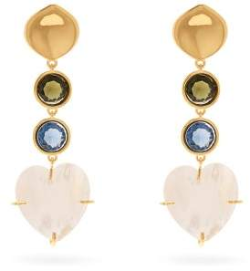 Lizzie Fortunato A Little Love Mother Of Pearl Earrings - Womens - Multi
