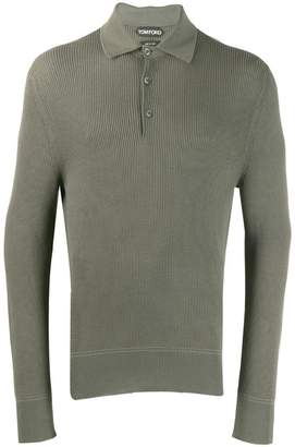 Tom Ford textured fitted polo shirt
