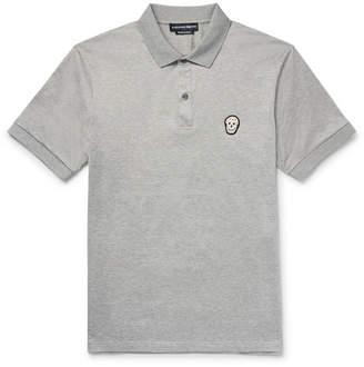 Alexander McQueen Slim-Fit Zardozi-Appliquéd Mercerised Cotton-Jersey Polo Shirt