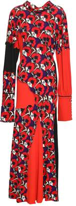 Marni Patchwork-effect Printed Jersey Maxi Dress