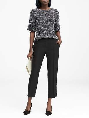 Banana Republic Avery Straight-Fit Pom-Pom Ankle Pant