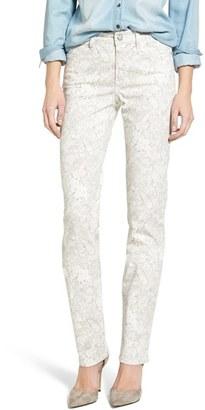 Women's Nydj Sheri Lace Print Stretch Skinny Jeans $134 thestylecure.com