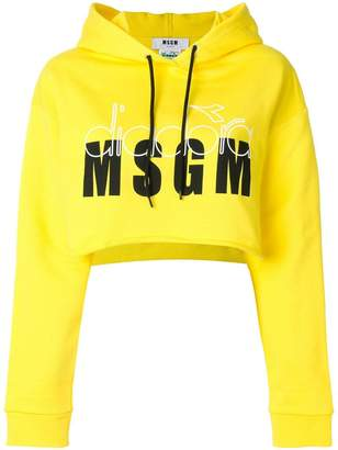 MSGM cropped hoody