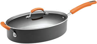 Rachael Ray Hard-Anodized Covered Oval Saut Pan with Helper Handle