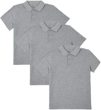 Marks and Spencer 3 Pack Unisex Pure Cotton Polo Shirts