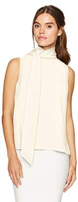 BCBGMAXAZRIA Women's Iran Woven Scarf-Neck Top