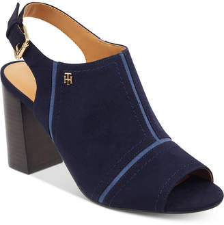 Tommy Hilfiger Relita Block-Heel Dress Sandals Women's Shoes