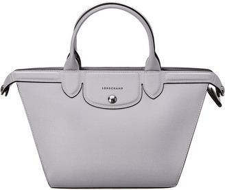 Longchamp Le Pliage Heritage Medium Leather Top Handle Tote