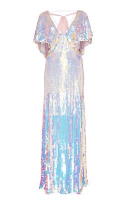 Temperley London Bardot Metallic Dress