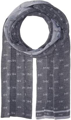 Michael Kors Logo Reversible Muffler Scarf