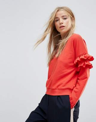 New Look Frill Sleeve Sweat