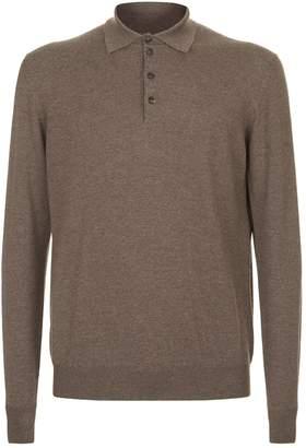 Pal Zileri Knitted Melange Polo Shirt