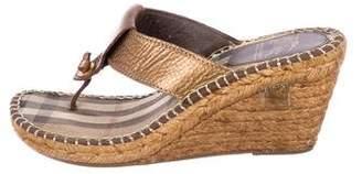 Burberry Leather Slide Sandals