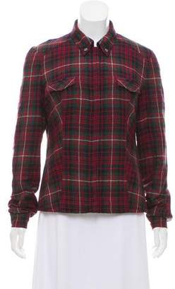 Authier Plaid Snap-Up Jacket