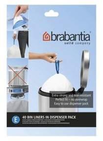 Brabantia Perfectfit Bags Size E 20 Litre 40 Bag Dispenser Pack
