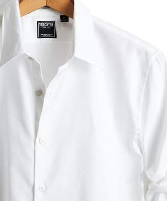 Todd Snyder Albiate Italian Royal Oxford Point Collar Shirt in White