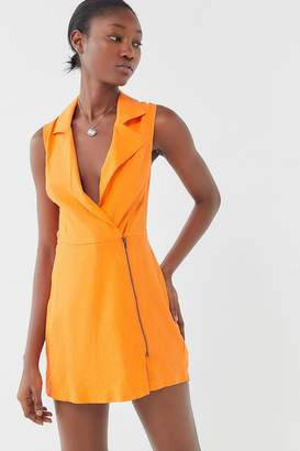 Urban Outfitters Farrah Plunging Collared Romper