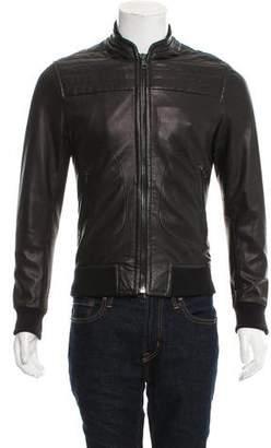 Rag & Bone Leather Bomber Jacket