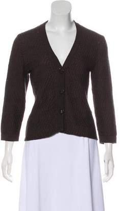 Max Mara Textured Knit Cardigan
