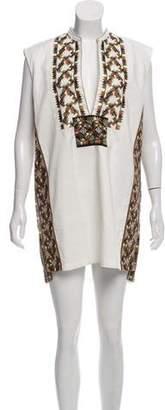 Dries Van Noten Embroidered Linen-Blend Dress