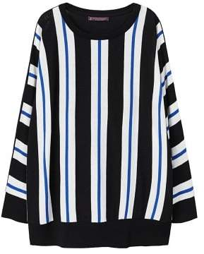Violeta BY MANGO Fine-knit striped sweater