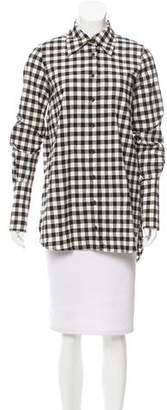 Kimberly Ovitz Gingham Button-Up Top w/ Tags