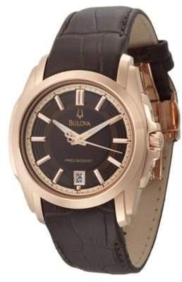 Bulova Men's Precisionist Brown Strap Watch