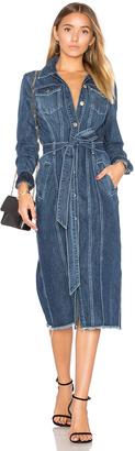 7 For All Mankind Denim Shirt Dress $359 thestylecure.com