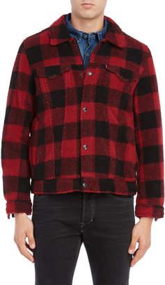 Levi's California Plaid Sherpa Trucker Jacket