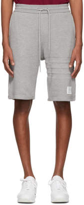 Thom Browne Grey Chunky Honeycomb Pique 4-Bar Shorts