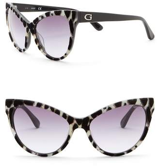 GUESS 56mm Cat Eye Sunglasses