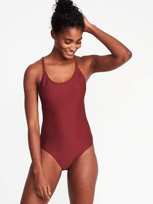 Old Navy Textured-Stripe Swimsuit for Women