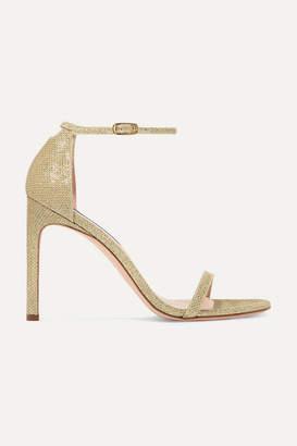 Stuart Weitzman Nudistsong Lamé Sandals - Gold