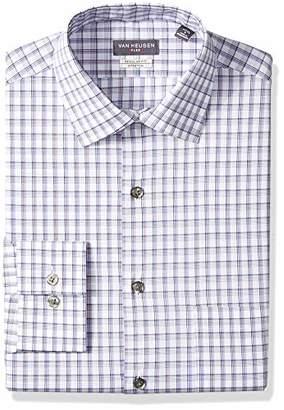 Van Heusen Mens Dress Shirt Regular Fit Flex Collar Check