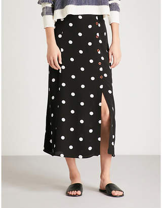 Free People Retro Love crepe midi skirt