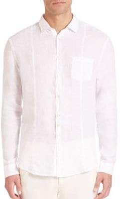 John Varvatos Slim-Fit Linen Button-Down Shirt