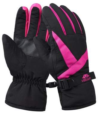VBIGER Women's Waterproof Cuffed Winter Warm Sports Gloves for Cycling and Ski