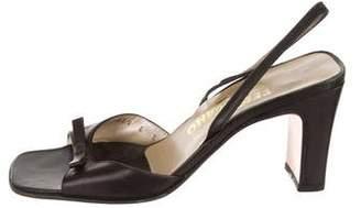 Salvatore Ferragamo Square-Toe Slingback Sandals