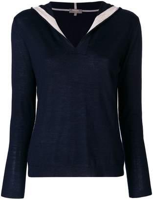 N.Peal hooded jumper