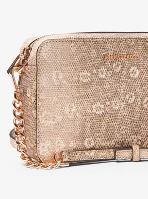 MICHAEL Michael Kors Ginny Lizard-Embossed Leather Crossbody