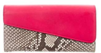Christian Dior Leather-Trimmed Python Wallet