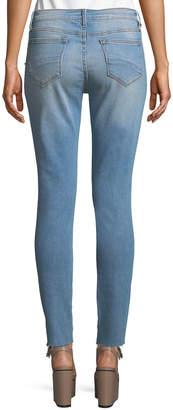 Driftwood Jackie Pearl-Trim Raw-Hem Jeans