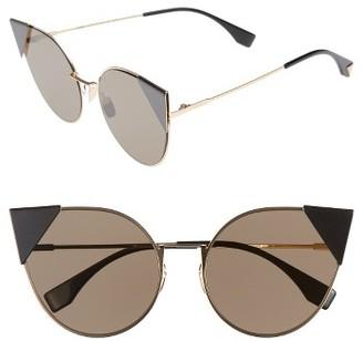 Fendi 57mm Lei Cat Eye Sunglasses $525 thestylecure.com