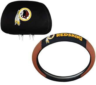 Washington Redskins Steering Wheel & Head Rest Cover Set