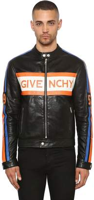 Givenchy Logo Leather Biker Jacket