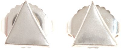 Wendy Nichol Silver Large Triangle Stud Earrings